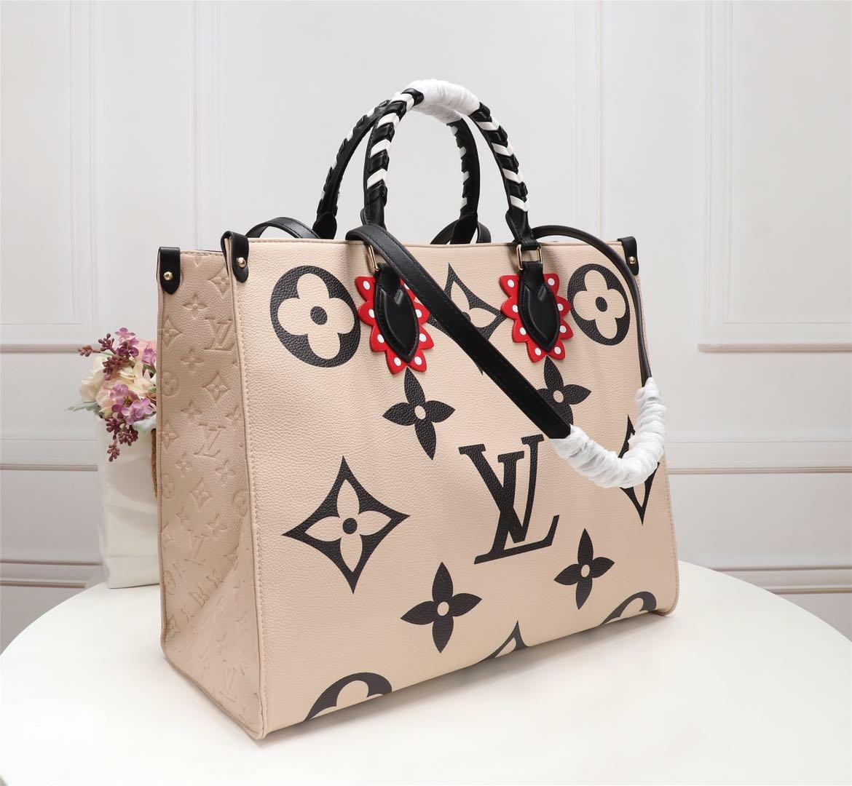 LOU1S VU1TTON M45373 OnTheGo FEMMES cuir torsion sac messenger shopping shopping sac à bandoulière sac poches de Totes Sac cosmétique