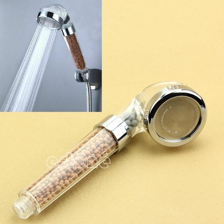 Nowy Zdrowy Jonowy Głowica Prysznic Filtr Ionizator Wody Narzędzie Do łazienki Spa Home Spray