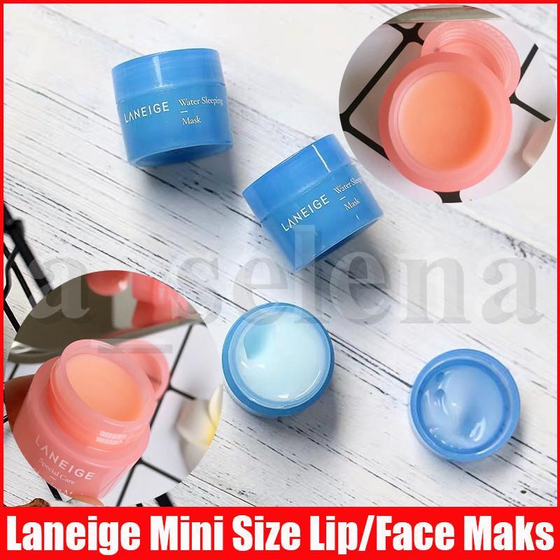 Laneege especial cuidado labial labial máscara labial bálsamo batom 3g e água máscara dormindo durante a noite tamanho pequeno 15ml