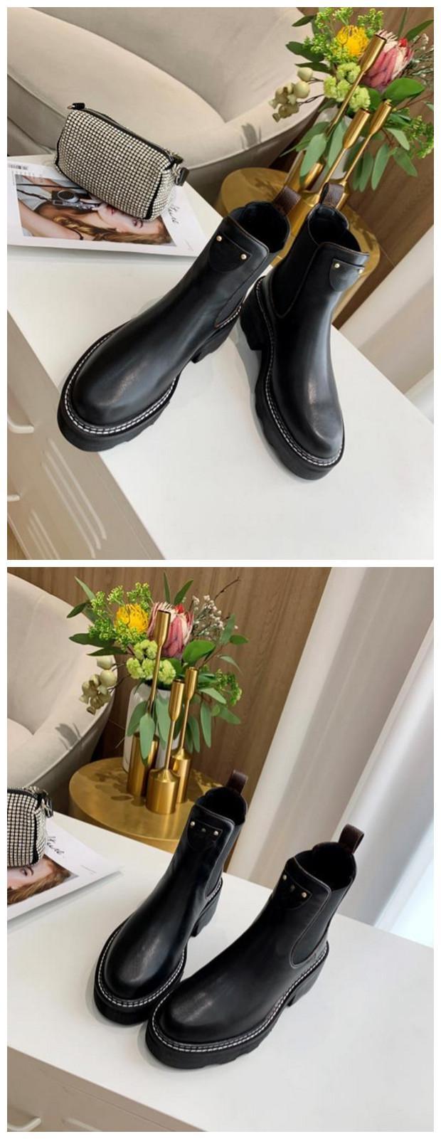caja original BEAUBOURG tobillo botas de zapatos de las mujeres botas de invierno muchachas de las señoras de seda de la piel de vacuno de alta Top para mujer plana del cargador del tobillo