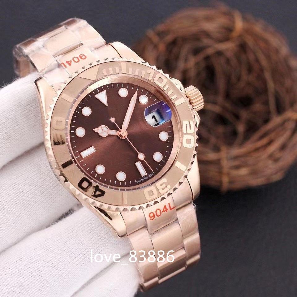 Reloj para hombre 40mm relojes impermeables Correa de oro Rose Oro Movimiento automático Mecánico Acero inoxidable Relojes para hombre Master Male Wristwatch