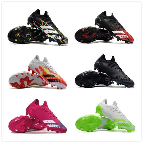 كرة القدم أحذية المفترس Mutator 20+ FG 20.1 low رجل كرة القدم المرابط أحذية كرة القدم chaussures دي أسود أبيض أحمر تواجد SCARPE دا كالتشيو