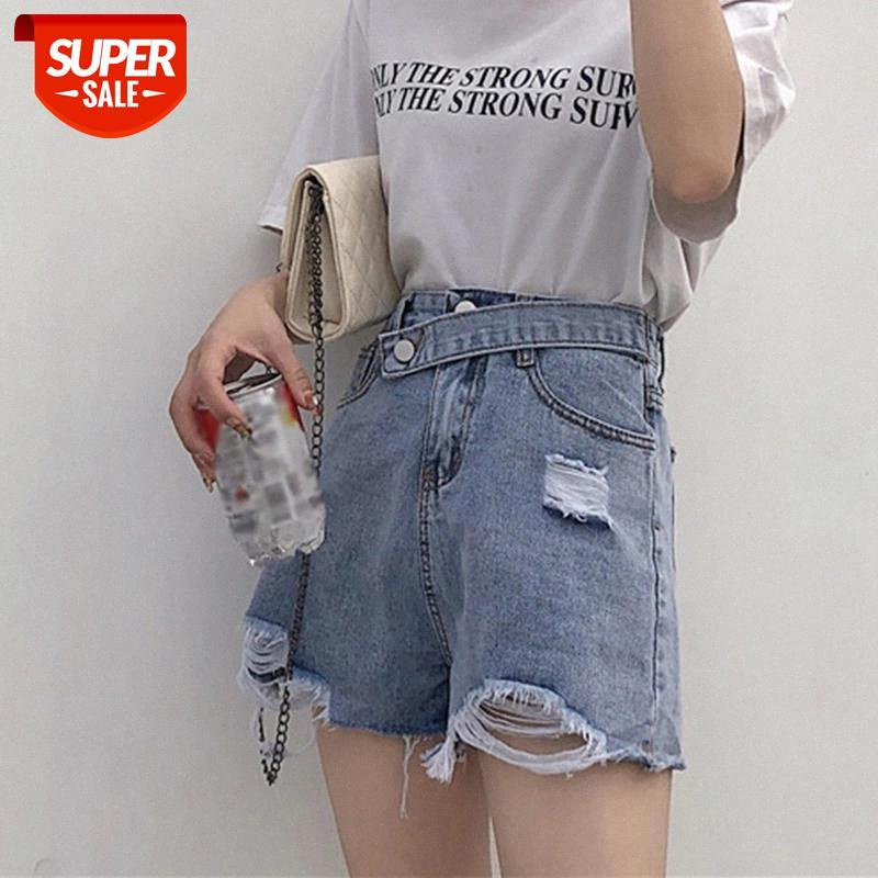 Normov Casual Frauen Shorts Modeloch Hohe Taille Quaste Jeans Shorts Feste Denim Sommer Lose Femme Plus Größe # 1P89