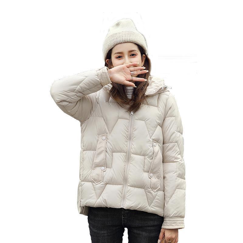 여성용 다운 파카 코튼 패딩 된 옷 유행 작은 느슨한 짧은 패딩 재킷 2021 겨울 숙녀 드 패션 빵