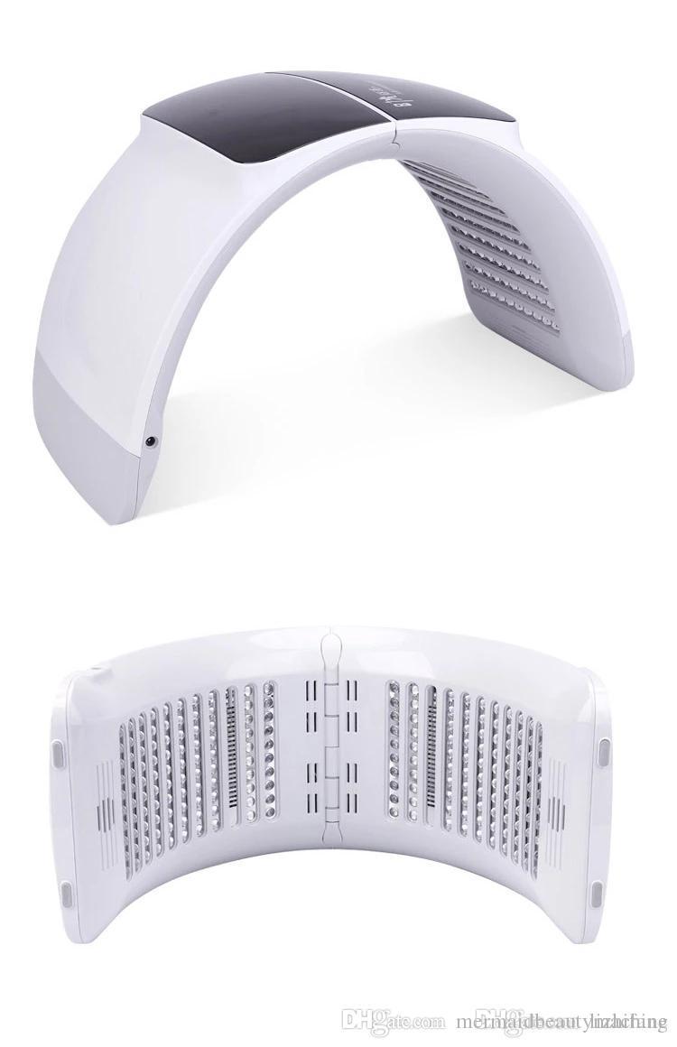 2019 새로운 foldable 전문 7 빛 LED 얼굴 마스크 PDT 빛 피부 치료 뷰티 기계에 대 한 피부 젊 어 짐 아름다움 장비