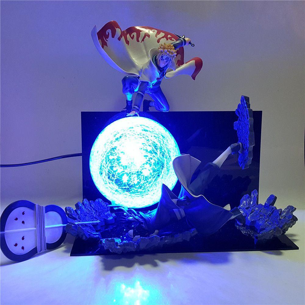 Cena Naruto Minato VS Obito Rasengan DIY Led Night Light Naruto Shippuden Uchiha Obito Luminaria novidade Lâmpada Home Decor MY1 C1007