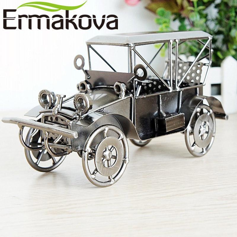"""Ermakova 20 cm (7.8"""" ) Metall Retro-Auto-Modell Vintage klassische Auto-Modell Auto Fahrzeug Figurine Jungen-Spielzeug-Geschenk-Hauptdekor"""