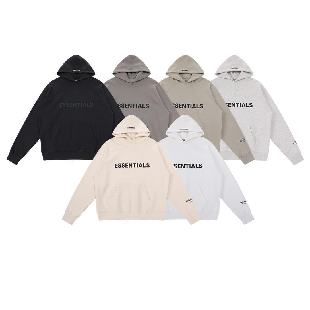 Tanrıların korkusu Essentials Hoodies erkekler ve kadınlar için 3d alfabe ücretsiz gemi erkek hoodies tişörtü