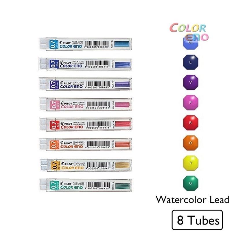 8 adet / grup Kawaii Pilot Renk Eno Mekanik Kalem Kurşun 0.7mm Grafit Kalem Suluboya Taslak Kalem Kurşun Crayon Japon 201223