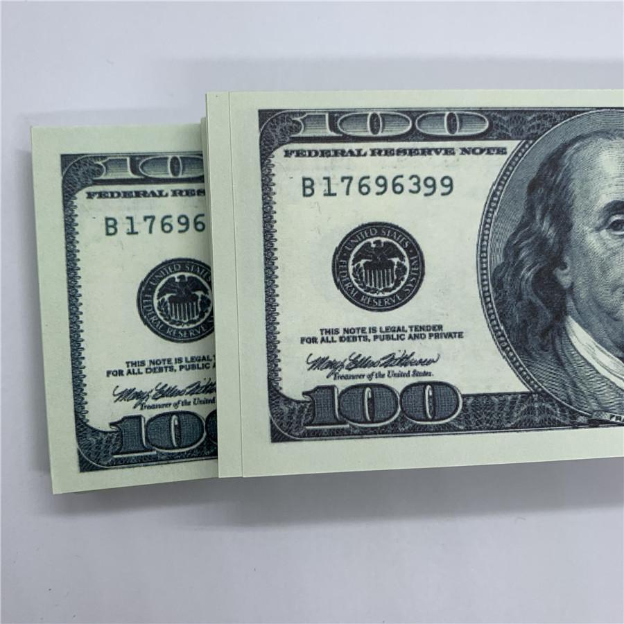 U.s.curchency Дети 100 Поддельные поддельные разблокировки Money Banknotes Старый доллар O5 Игрушечная копия банковской съемки Съемка Performance Rups HGPXB