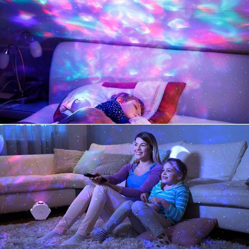 LED Night Light Ocean Star Projeção Luz Luz Nebulosa Sono Starlight Sleep Indoor Creative Light DIY Presente