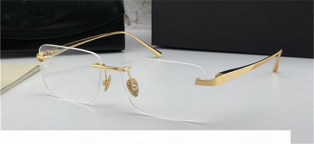 Mode verschreibungspflichtige Brillen der visuellen rim0losen Rahmen optische Gläser klare Linse Einfacher Geschäftsstil für Männer
