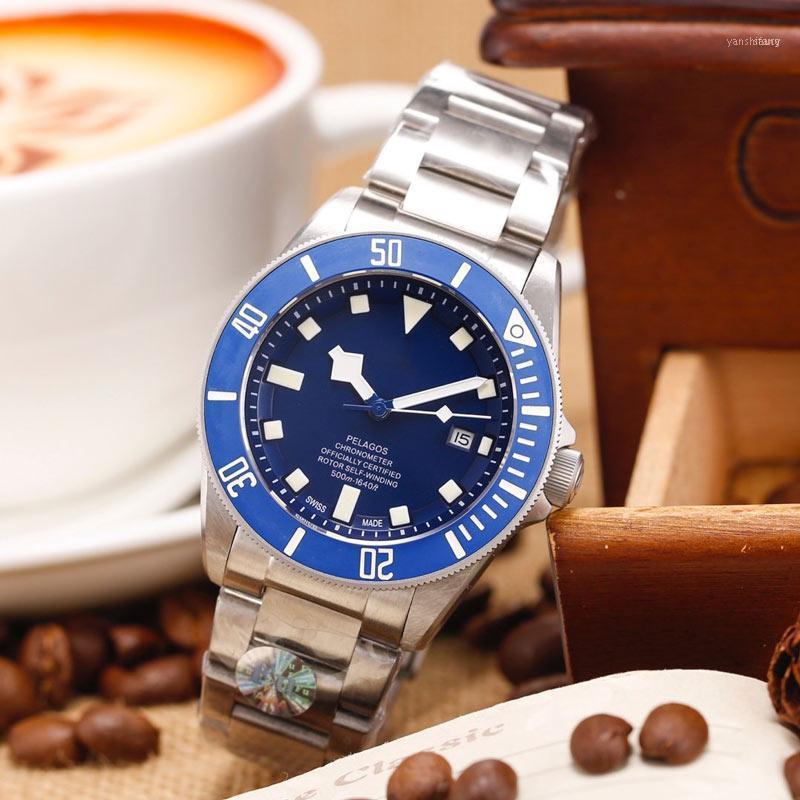 Homem assiste movimento automático 41mm * 12mm pulseira de couro relógios relógio masculino gift11