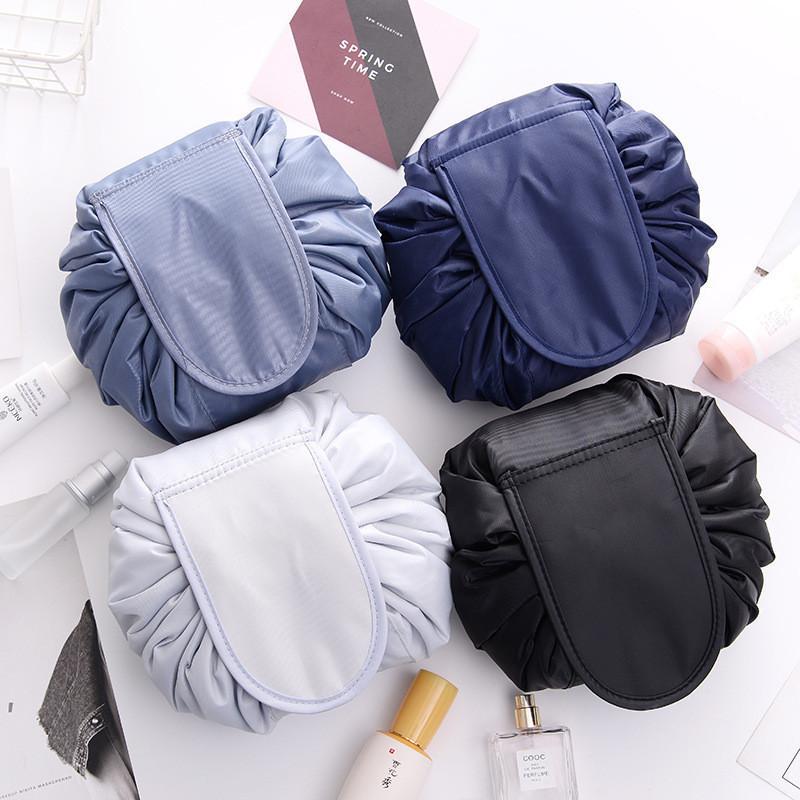 İpli Makyaj Çantası Yüksek Kapasiteli Kozmetik Saklama Çantası Taşınabilir Seyahat Kozmetik Çanta İşlevli Tuvalet Çantası MY-INF0671