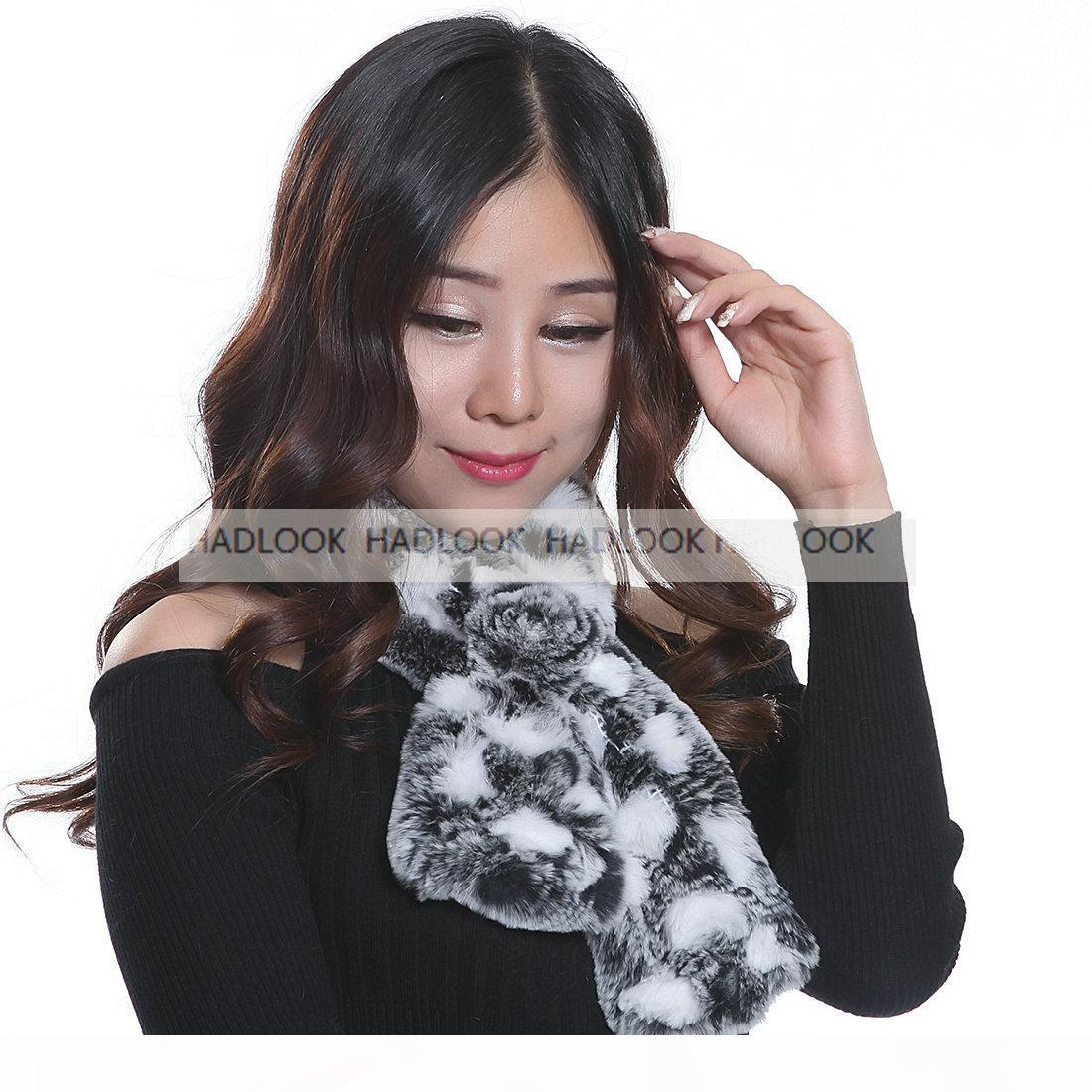 Femmes fourrure foulard fourrure fourrure foulards de lapin 12 couleurs véritables écharpes naturelles Cape de silencieux Cape Cape Cape chaud Chaud Hiver Châle Promotion Qualité Promotion