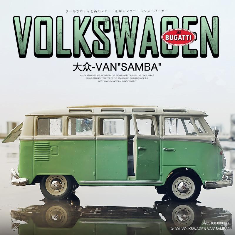 MAISTO 1:25 Volkswagen van Samba Simulação Liga modelo de carro decoração coleção presente brinquedo