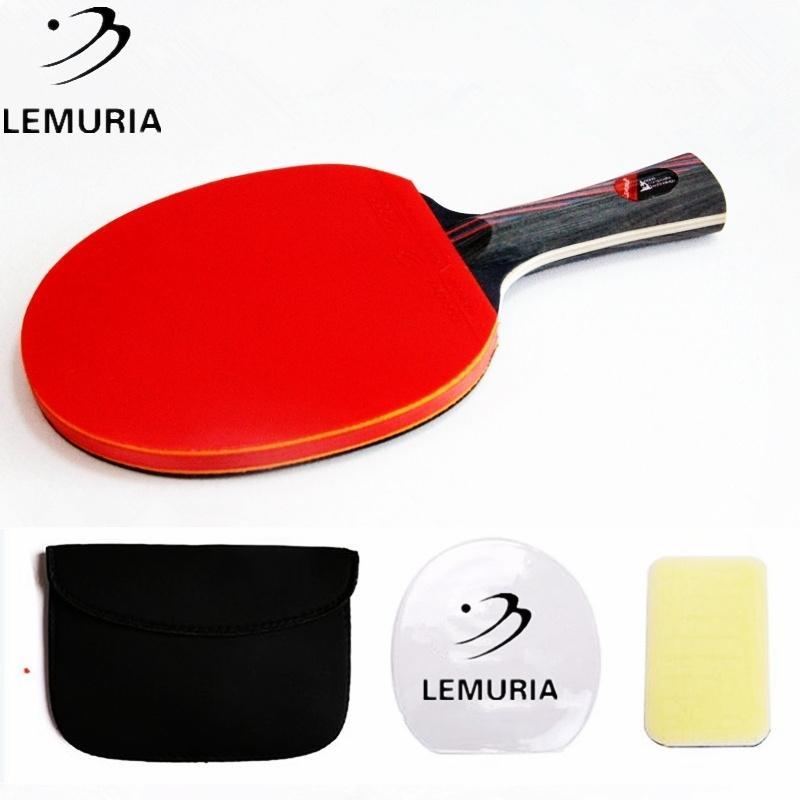Lemuria المهنية ألياف الكربون تنس الطاولة مضرب وجه مزدوج البثور في تنس الطاولة المطاط فلوريدا أو CS اليد بينغ بونغ مضرب 201116