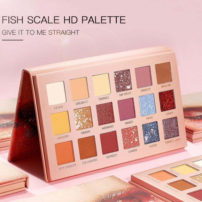 Göz Farı Güzellik Mat Göz Farı Paleti 18 Renkli Gölgeler Paleglitter Vurgulayıcı Pırıltılı Makyaj Pigment Pallete
