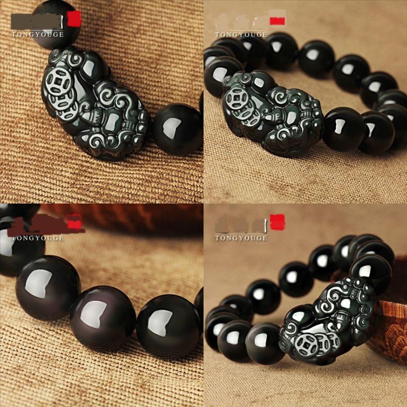 Anb Natural den Suas frisadas Bralet Rhodochrosite mantra pulseiras de pedra pulseira de lótus homens jóias asa charme frisado yoga para