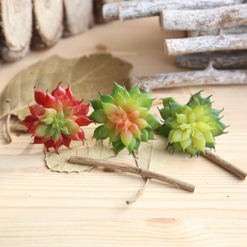 Mini Suculentas falsas plantas de aloe artificial suculentas plantas ornamentales tallos de las flores adornos para el hogar decoración de jardín