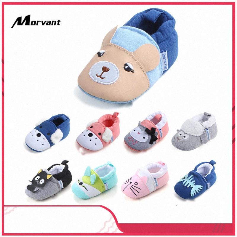 Детская обувь Мягкого хлопок Infant Toddler обувь Прекрасный мультфильм младенец Противоскользящий клей на подошвы Мальчики Девочка Первой ходунки gaRJ #