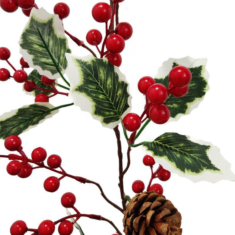 Рождественские бобы акации ротанга красная акация фасоль зеленый лист искусственные растения лозы Home Искусственные растения лозы Рождество Decoratio DHB1510