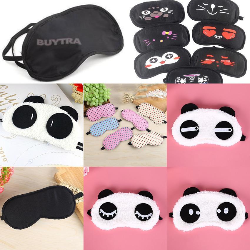1pc Cotton Goggles Cute Face Eyeshade Shading Sleep Mask Eye Cover Health Care Multi Style 8NND