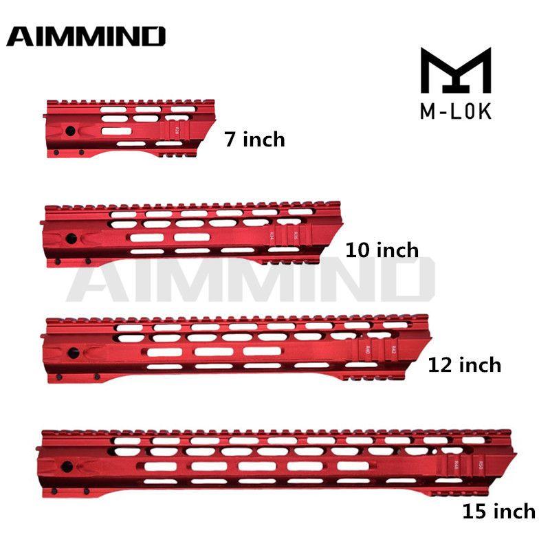 2021 جديد AR-15 MLOK MLOK 7 10 12 15 بوصة Mlok HANDGUARD Picatinny السكك الحديدية جبل