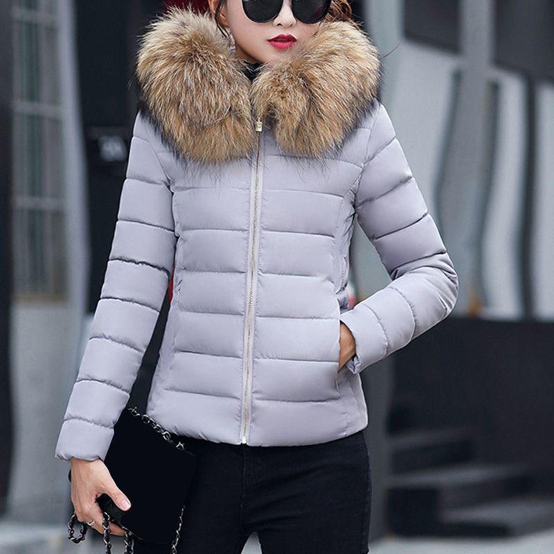 2019 novo casaco de outono mulheres jaqueta de inverno parkas parkas de pele detacível quente hoodies magro fit outwear