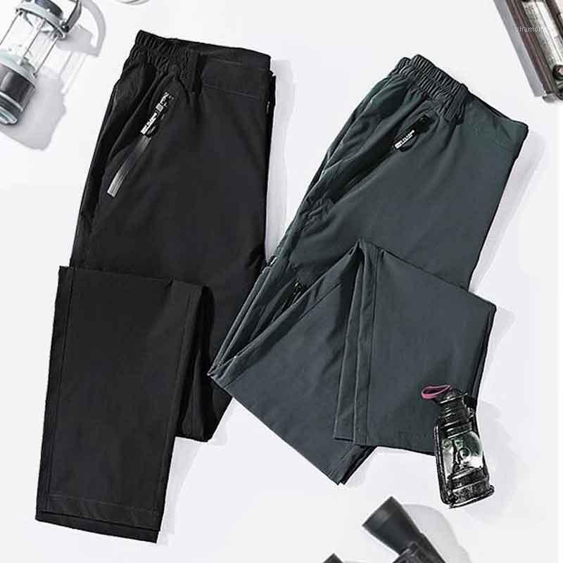 السراويل رجالي الصيف رقيقة في الهواء الطلق المرأة سريعة السراويل المشي لمسافات طويلة جيوب الصيد الربيع عارضة السراويل M-5XL pantalones1