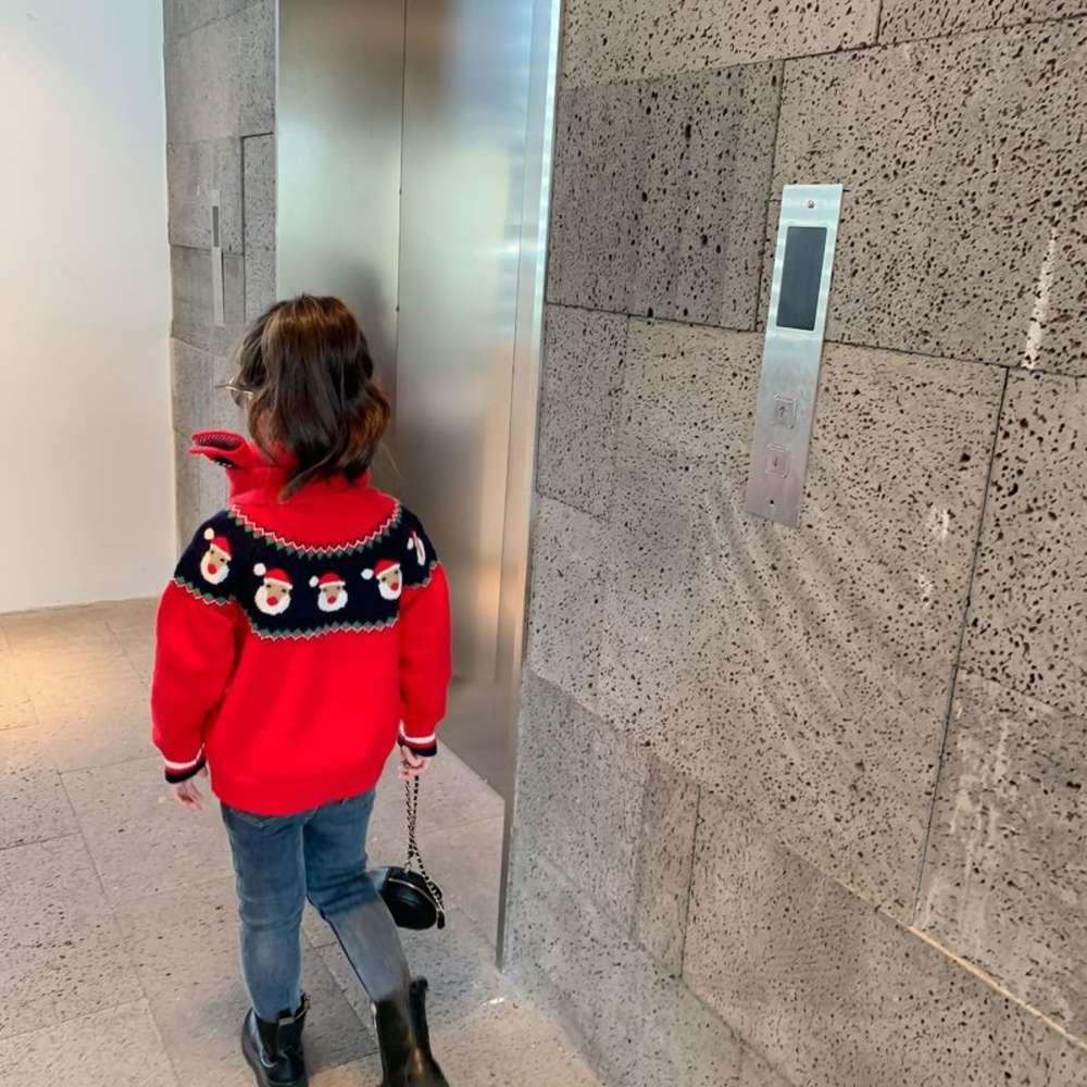 Девушки зима 2020 Новая детская одежда, S свитер, Скарв и свитеры OR4Q