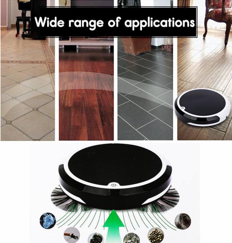 Robot elétrica Vacuum Cleaner Início 4 em 1 recarregável aspirador chão robô inteligente robô de varrer sujeira Cleaner Automatic