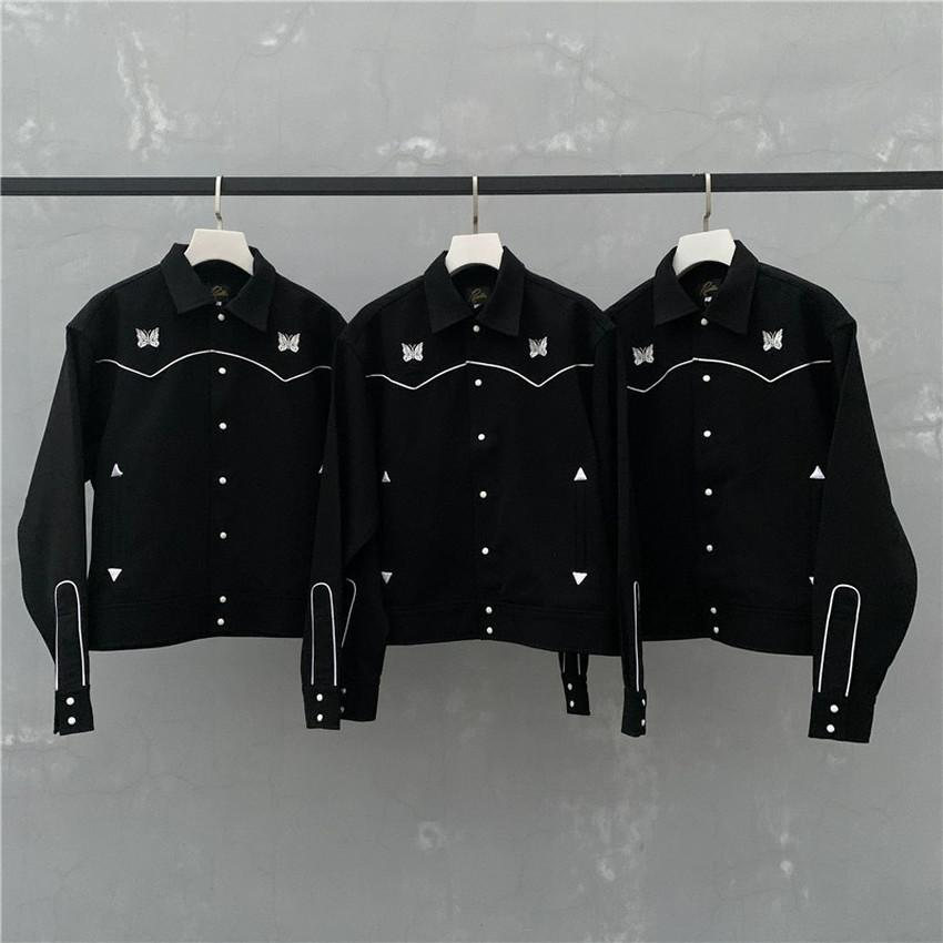 New Jacke Männer Frauen 1 hochwertige Vintage britische Art-Stickerei-Mäntel