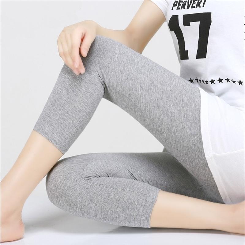 Леггинсы XS-7XL летние легенды Женщины 3/4 короткие ногирующие штаны тонкие женщины большой размер растягиваться серый черный белый розовый 6xL 5XL 4xL 3XL Y200328