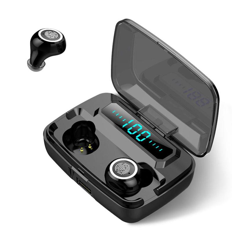 M11 TWS سماعات بلوتوث لاسلكية V5.0 IPX7 سماعات مقاومة للماء مع شاشة LED الرقمية Binaural HD دعوة 3600mAh بنك الطاقة مع مربع