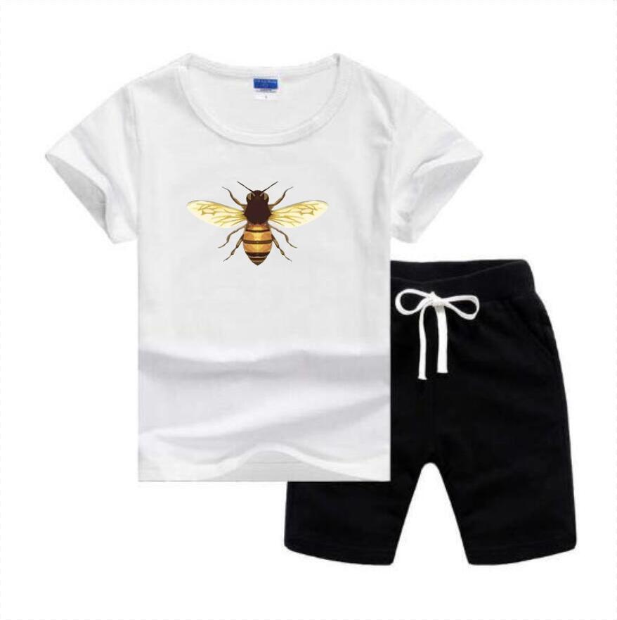 Vendita calda moda stile classico stile stilista nuovo per ragazzi e ragazze vestito sportivo bambino vestiti manica corta Bambini