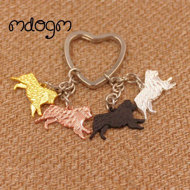 2020 bonito Australian Shepherd Dog animal da bolsa Charme artesanal Pendant Keychain para Bag Car Mulheres Homens Girls Love K053