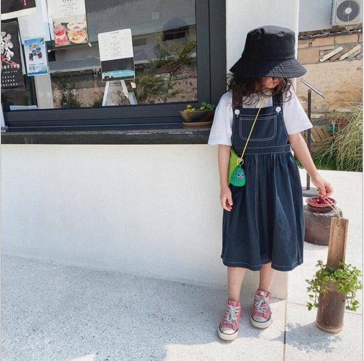 2020 2020 neue Mädchen-Denim-Kleid Mode-Sommer-Mädchen-Weste-Kleider 2 7 Jahre QH313 f0Jk #