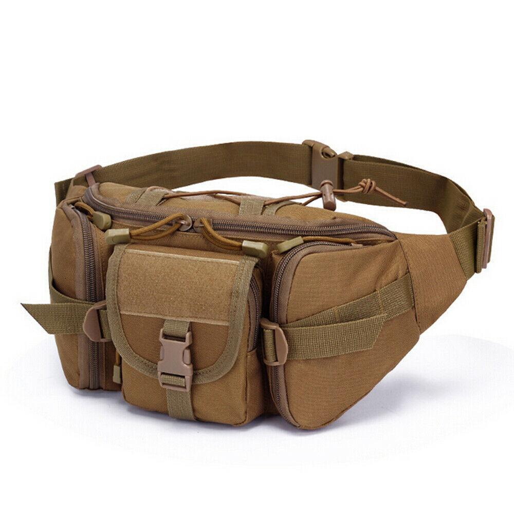 Garrafa de água dupla Homens Nylon cintura Esporte Bag Belt Tactical viagem Caminhadas Pacote Camping Tactical cintura pack Anti-rasgo