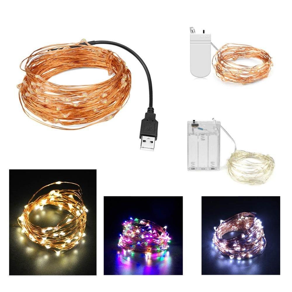 faisceau est de 5 m, 10 m, 20 m, USB, 5V, cellule solaire, bande de LED, couronne de fil de cuivre, les enfants de lumière d'arrière-plan, la lumière de décoration