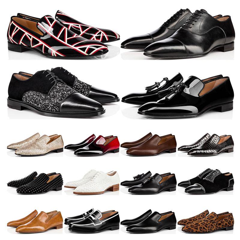 zapatos de fondo rojo zapatos de cuero genuino Oxford zapatos de negocios para hombre mujer caminando Wedding Party tamaño 38-47 con caja