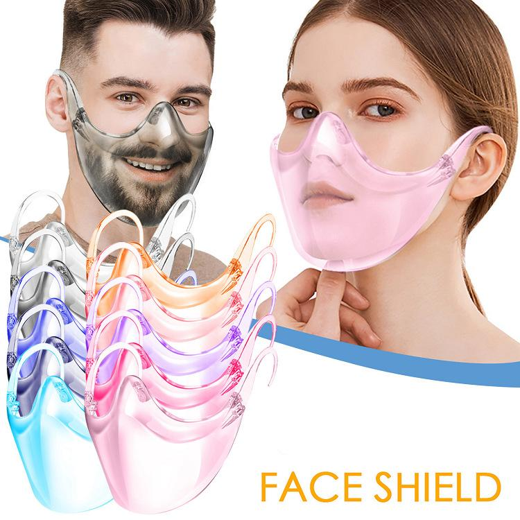 10 colores de seguridad Face Shield Glasses Faceshield Visor Transparente Anti-Fog Anti-Splash Capa Proteger Eyes Mascarilla con el titular de las gafas