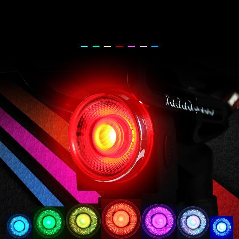 7 Colorido Bicicleta Luz Impermeable Usb Recargamiento LED 4 Modo Moda Bicicleta Luz trasera Lámpara Noche Montando Seguridad Advertencia