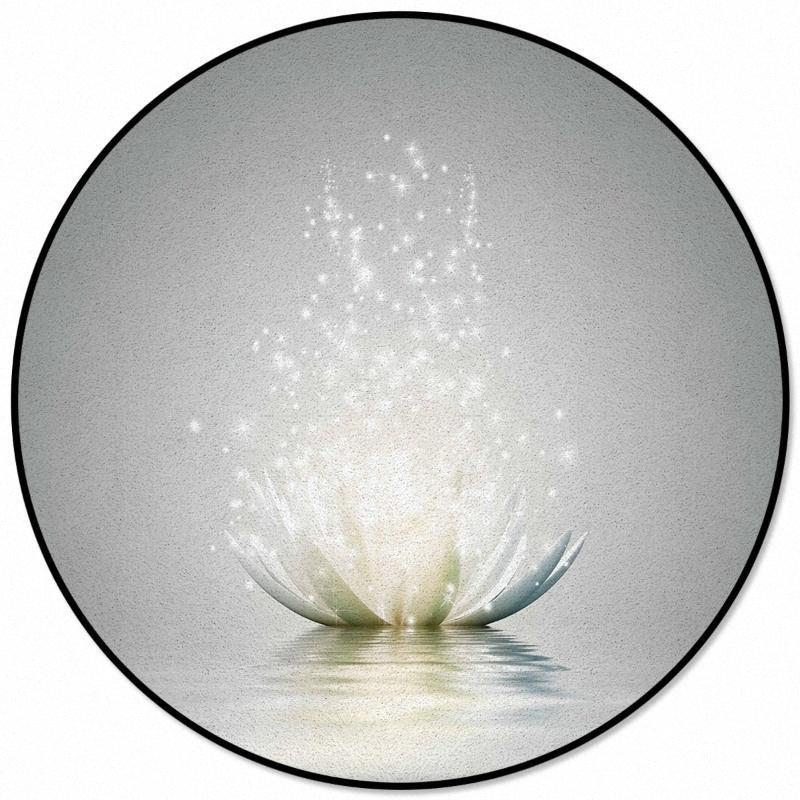 Fleur Lotus Résumé Les tapis de modèle et tapis pour la maison ronde Salon Chambre Tapis pour enfants Chambres Antiderapant de coûts Tapis Shaw Carpet CwiL #