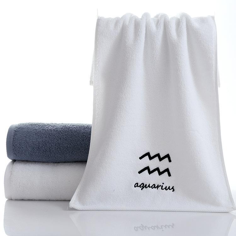 Toalla personalizada Constelación creativa Toalla de toalla Pareja Regalos de engrosamiento Ejercicio Cara Toalla Pure Algodón Personalizado Pen