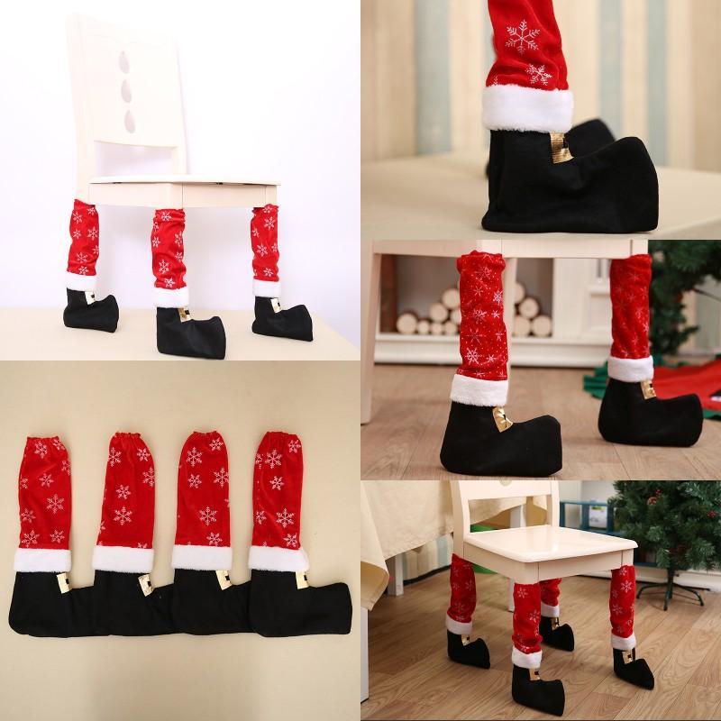 Chaussettes Chaussettes de pied Noël Stocking Hôtel Restaurant Bar Pieds Couverture Tabouret Durable Sleeve Sleeve Sale 4 2HBA G2