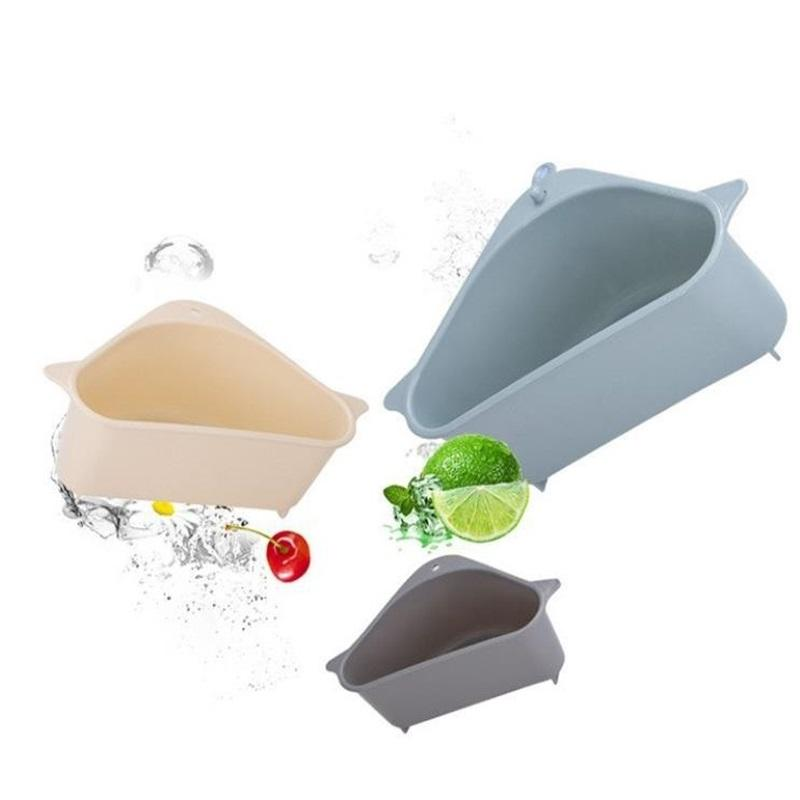 Küchenaufbewahrungsgestelle Drain-Korbregale mit Saugbecher Spüle Ecke PP Kunststoff Schwamm Pinsel Tuch Siebkorb Ablassen von Racks 242 G2