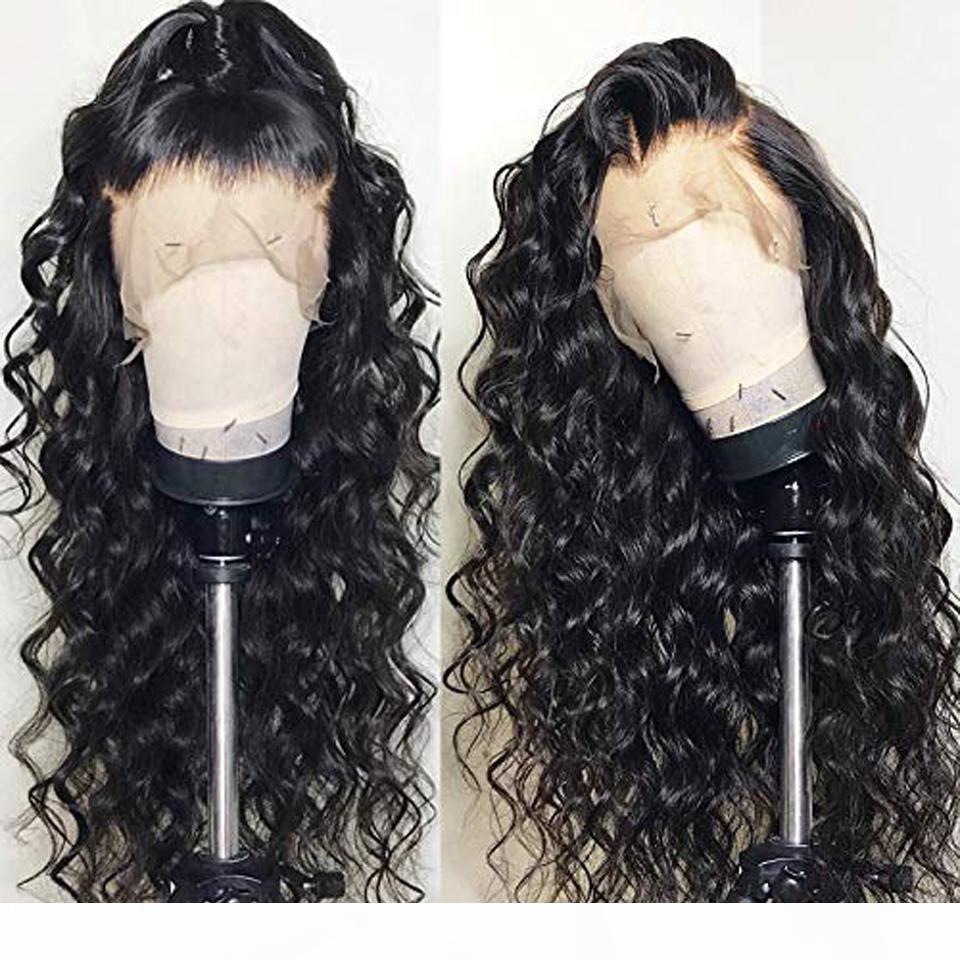 Parrucca anteriore del pizzo dei capelli umani completa parrucche del merletto brasiliano dell'onda profonda capelli umani del Virgin poco costoso parrucche per le donne
