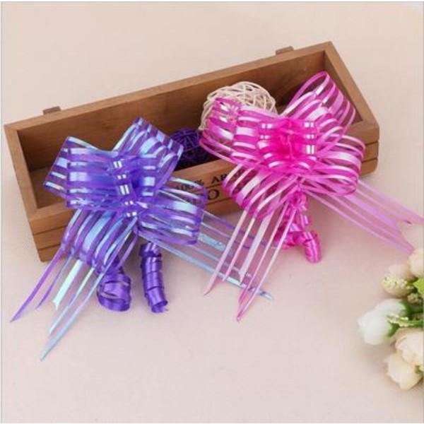 100pcs 1,8 / 3/5 cm de Navidad regalo del Bowknot cinta ramo de flores Wrap Tire del partido Envoltura de regalo decoración actual