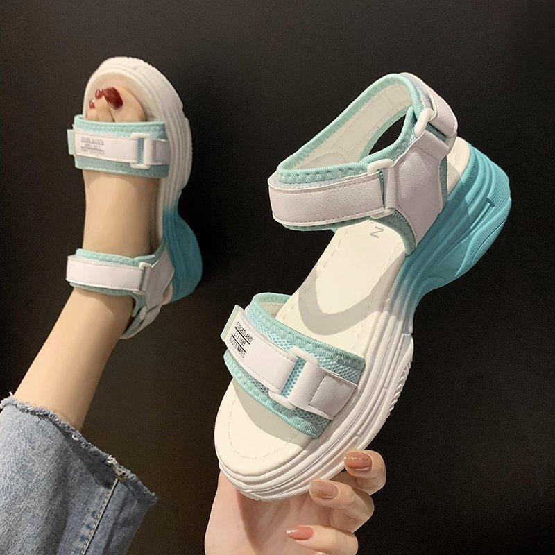 Sandales Fashion Summer Femmes Sandal HooPloop Sports Sports Plateforme Plateforme Outdoor Casual Casual Lady Beach Chaussures BH46